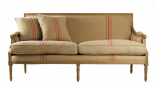Sofa Say Yes to Stripes Red Stripes/Reclaimed Oak